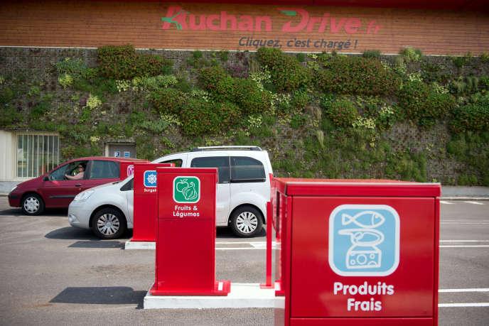 Un Auchan Drive à Cesson en Seine-et-Marne.