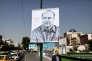 Portrait du maire de Téhéran, Mohammad Bagher Ghalibaf, dans la capitale, le 15 mai.
