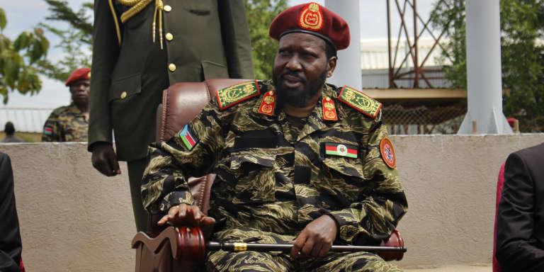 Le président du Soudan du Sud, Salva Kiir, lors de la cérémonie célébrant le 34e anniversaire de l'Armée populaire de libération du Soudan, à Juba, le 18 mai 2017.