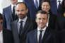 Edouard Philippe et Emmanuel Macron jeudi 18 avril, à l'Elysée, à la sortie du Conseil des ministres.