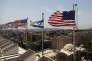 Préparatifs pour la visite de Donald Trump à Jérusalem, le 17 mai.
