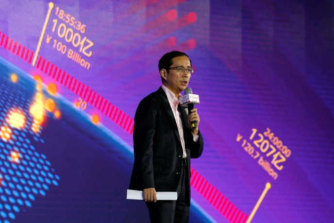 Daniel Zhang, PDG d'Alibaba, en novembre 2016, à Shenzhen, dans le sud de la Chine.