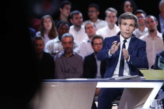 David Pujadas, au cours de «L'émission politique» sur France 2, le 18 mai.