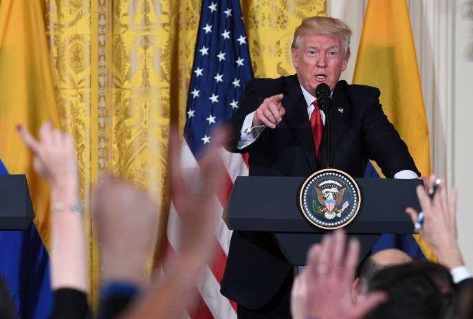 Donald Trump à la Maison Blanche, le 18 mai.