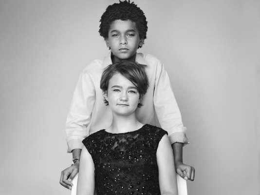 Jaden Michael et Millicent Simmonds, les jeunes acteurs de «Wonderstruck», à Cannes, le 18 mai 2017.