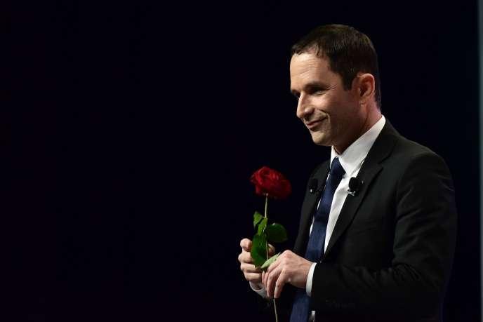 Benoît Hamon, candidat du PS à la présidentielle, à Maxéville (Meurthe-et-Moselle), le 5 avril.