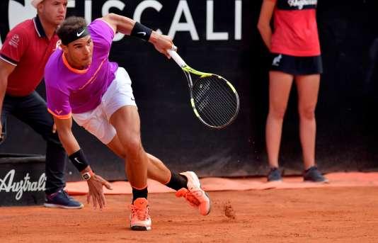 Rafael Nadal lors de son match face à Dominic Thiem à Rome le 19 mai.