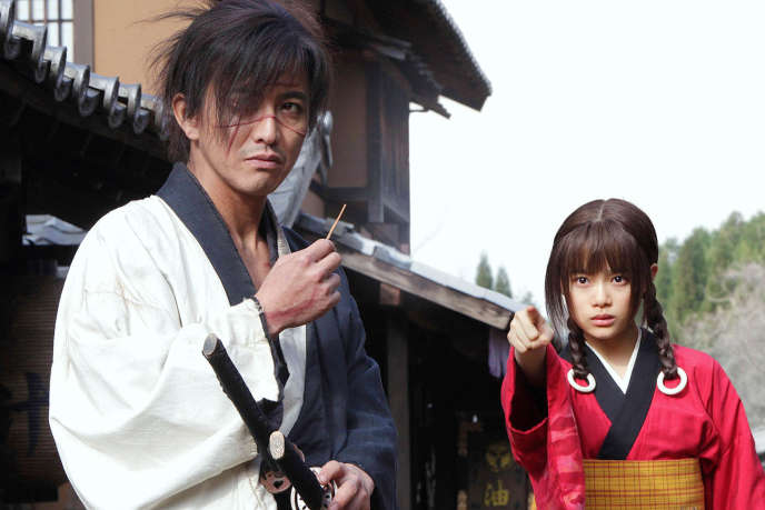 Takuya Kimura etHana Sugisaki dans le film japonais deTakashi Miike,«Mugen No Junin» («Blade of The Immortal»).