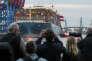 Le porte-conteneurs « MOL Triumph », au port de Burchardkai, à Hambourg, en Allemagne, le lundi 15 mai