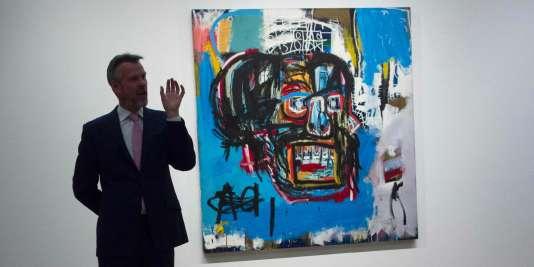 Le tableau sans titre de Jean-Michel Basquiat mis en vente par Sotheby's, le 5 mai.