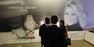 La présentation des nouvelles montres Frédérique Constant, à New York, 2novembre2016.