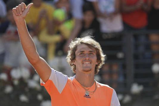 Alexander Zverev, ici après sa victoire en demi-finale contre John Isner, a remporté à Rome son premier Masters 1000.