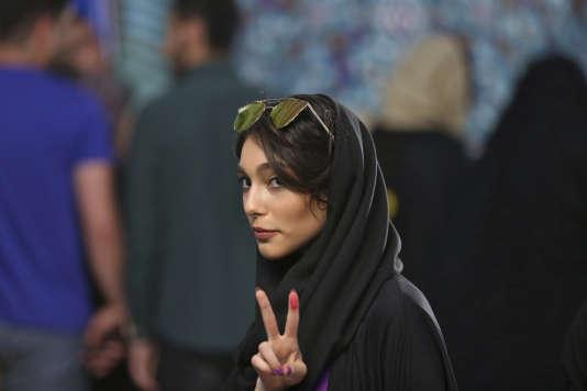 Une électrice à Téhéran le 19 mai.