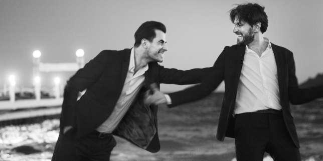 L'acteur Claes Bang et le réalisateur Ruben Östlund pour le film «The Square»à Cannes, le 20 mai 2017.