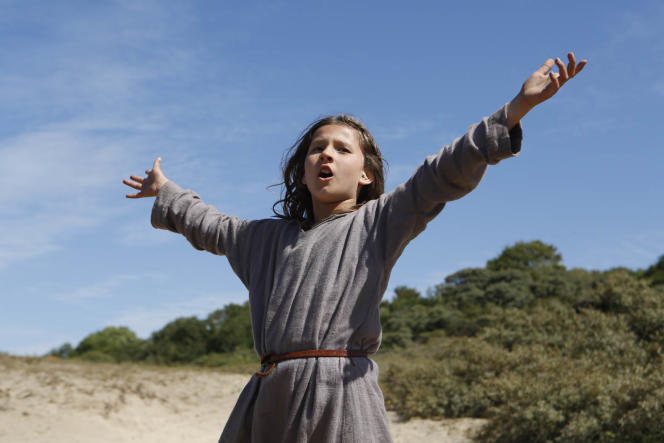 Lise Leplat Prudhomme dans le film de Bruno Dumont,«Jeannette, l'enfance de Jeanne d'Arc».