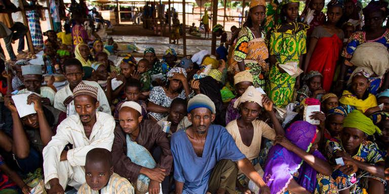 A Mbilé, mi-mai 2017, dans l'est du Cameroun, des réfugiés centrafricains qui ont fui les violences des milices anti-balaka.