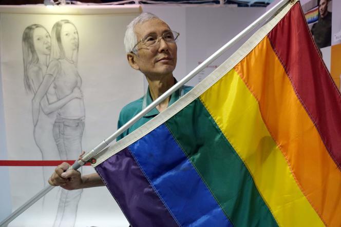Chia-wei à Taipei, le 19 mai. Son recours en justice est à l'origine de la décision de la Cour constitutionnelle.