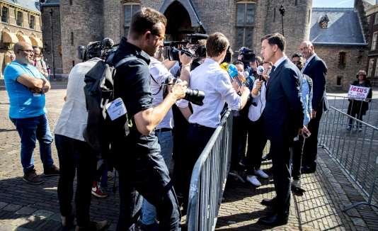 Le premier ministre néerlandais, Mark Rutte, le 22 mai à LaHaye.