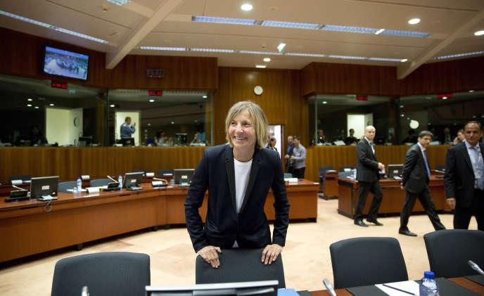 Marielle de Sarnez à Bruxelles, le 22 mai.