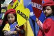 Lors du départ deRafael Correa, le 22 mai à Quito.