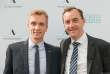 Maxime LeTellier, lauréat 2017 et Christophe Catoir, président d'Adecco France.