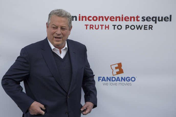 L'ancien vice-président américain Al Gore lors d'une projection de son documentaire«Une suite qui dérange» à Los Angeles (Californie), le 6 mai 2017.