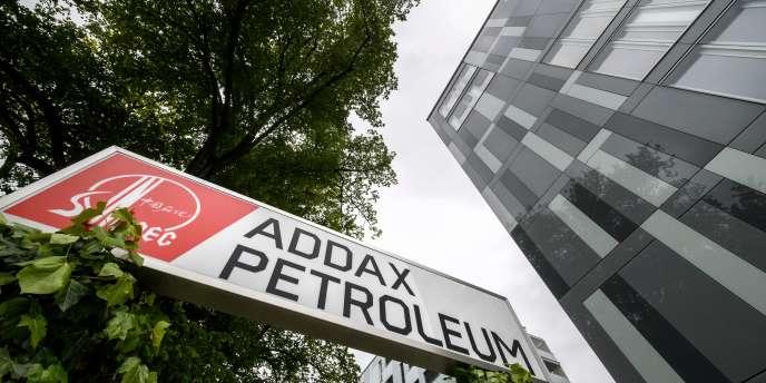 Le quartier général d'Addax Petroleum, à Genève, en mai 2017.