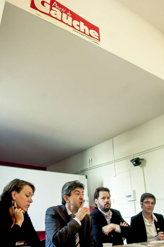 Avec son ami François Delapierre, secrétaire national du Parti de gauche, mort en 2015.