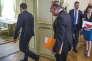 «L'entreprise a besoin de gouvernants puissants et légitimes qui prennent des décisions claires et stables» (Photo: Emmanuel Macron, président de la République, reçoit Pierre Gattaz, Medef, au Palais de l'Elysée, mardi 23 mai).