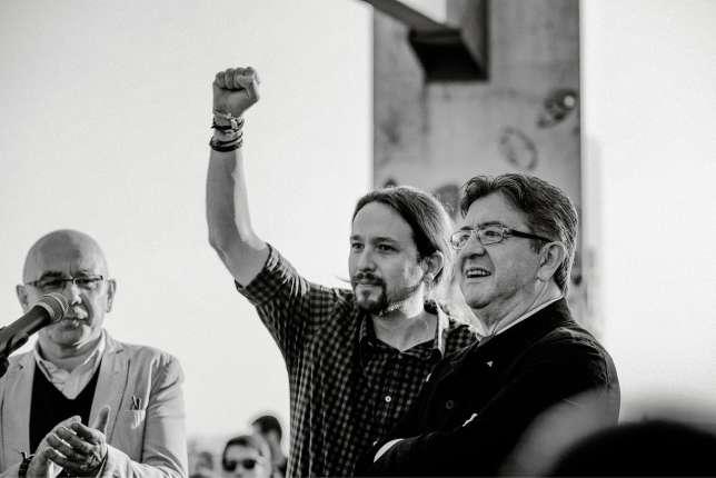 Avec Pablo Iglesias, leader de Podemos.