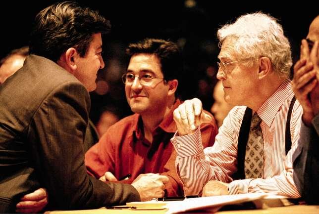 Avec Aquilino Morelle et Lionel Jospin, en 2000.