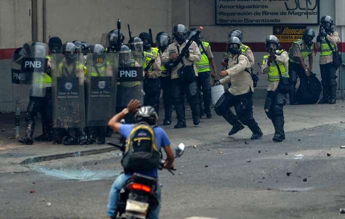 Lors d'une manifestation à Caracas, le 22 mai.