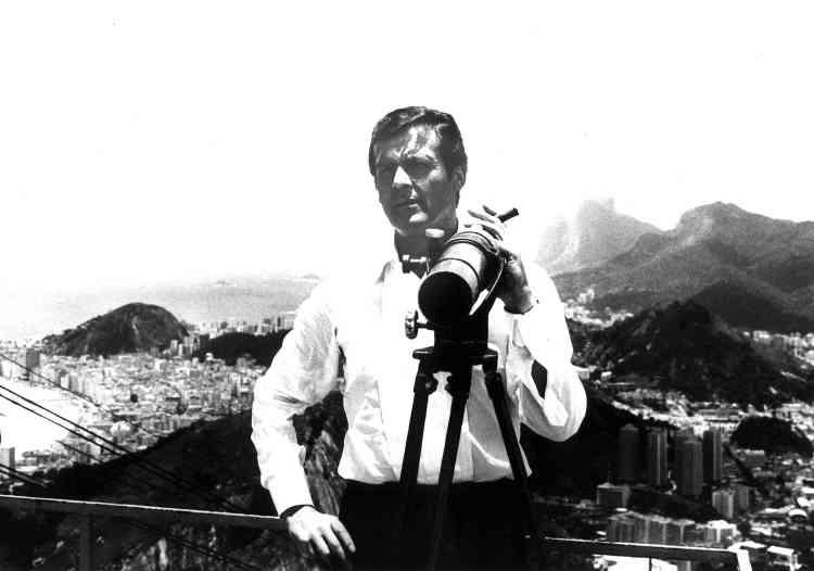 Surplombant Rio de Janeiro en janvier 1979, en marge du tournage de «Moonraker». Il a estimé que son plus grand rôle, il l'avait tenu pour le compte de l'Unicef, le Fondsdes Nations unies pour l'enfance.