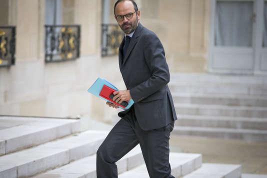 Edouard Philippe, premier ministre, participe au conseil des ministres au palais de l'Elysée à Paris, jeudi 18 mai 2017