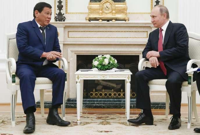 Rodrigo Duterte et Vladimir Poutine, le 23 mai à Moscou.