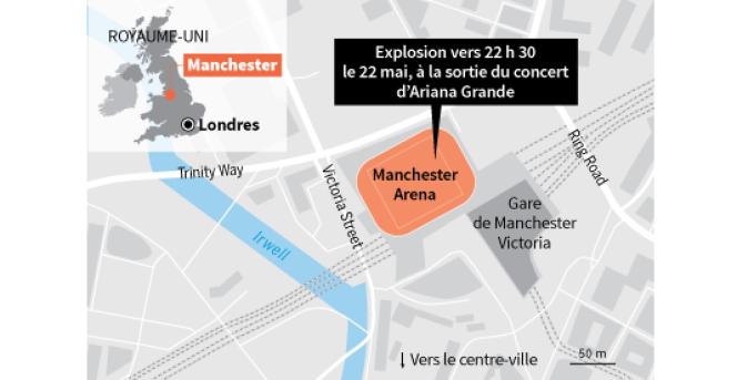 La Manchester Arena est la plus grande salle de concert britannique, avec une capacité de 21 000 personnes.
