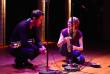 Le saxophoniste Vincent Lê Quang et Aude Pétiard, étudiante en 3e année au Conservatoire national supérieur de musique et de danse de Paris (CNSMDP), lors de l'atelier d'enregistrement en mai 2017.