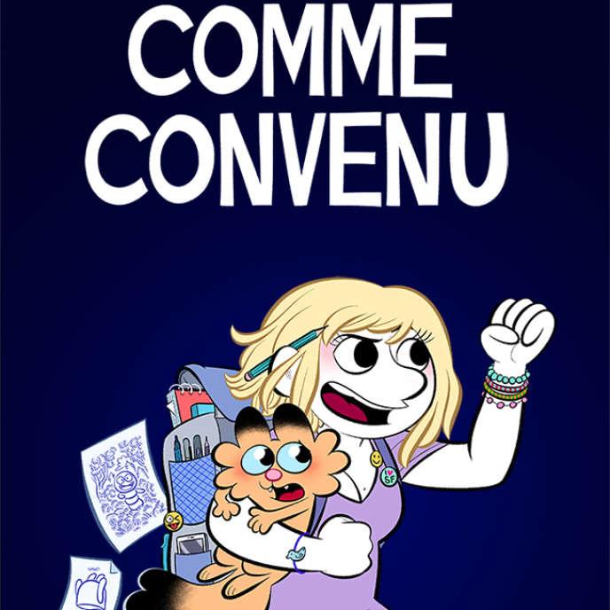 Couverture de «Comme convenu», la bande dessinée auto-biographique de Laurel Laureline Duermael, plus connue sous le nom de Laurel.