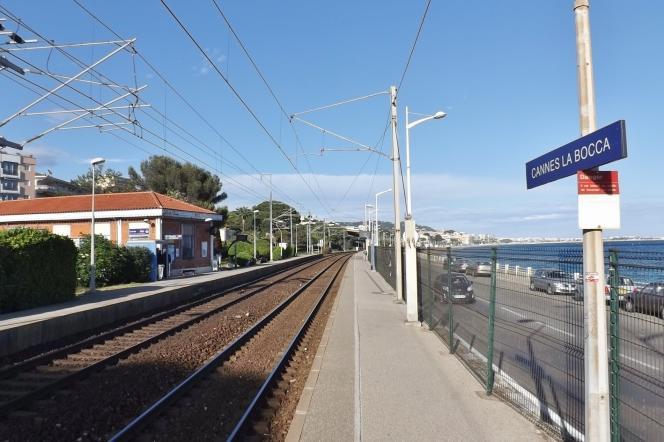 La gare de marchandises de Cannes-La Bocca.