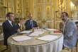Le président de la République, Emmanuel Macron, et le numéro un de la CGT, Philippe Martinez, le 23 mai à l'Elysée.