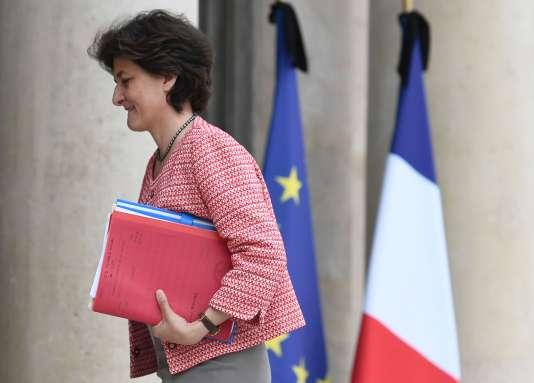 La ministre française des armées, Sylvie Goulard, à l'Elysée, le 22 mai 2017.