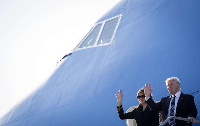 Melania et Donald Trump ont fait étape à Rome, mardi 23 mai, avant de rejoindre Bruxelles, mercredi.