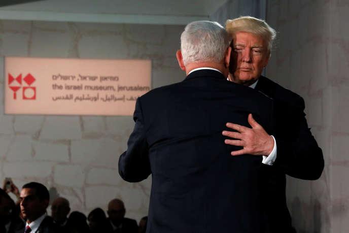 Donald Trump et Benyamin Nétanyahouau musée d'Israël, à Jérusalem, le 23 mai.