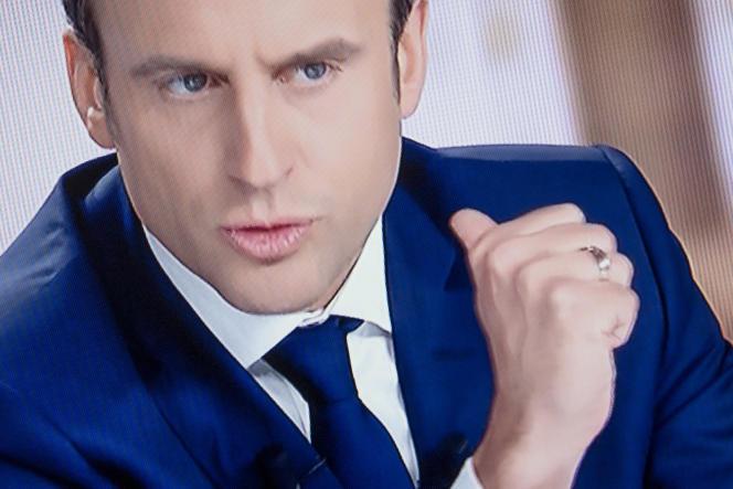 Captation du débat télévisé pour le second tour de la présidentielle, le 3 mai.