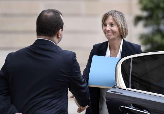 Marielle de Sarnez arrive à l'Elysée pour le conseil des ministres le 24 mai.