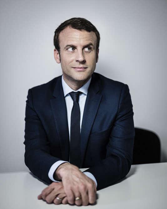Emmanuel Macron, à son siège de campagne, le 31 mars,à Paris.
