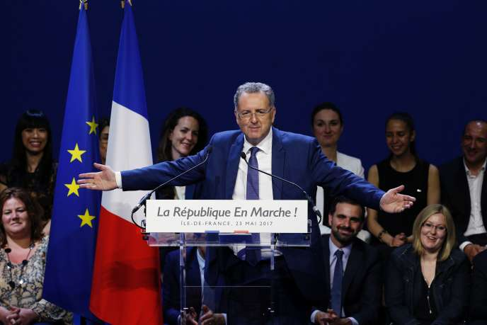Richard Ferrand, ministre de la cohésion des territoires, à Aubervilliers le 23 mai.