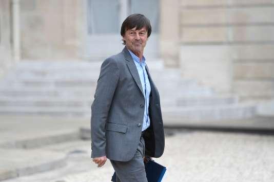Nicolas Hulot,ministre de la transition écologique et solidaire, le 24mai.