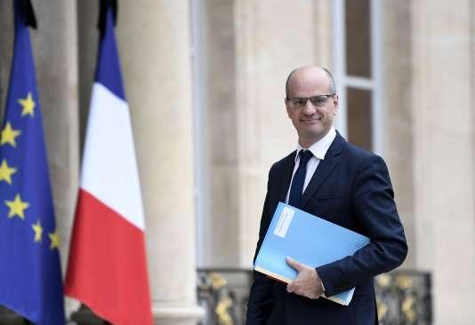 Jean-Michel Blanquer, ministre de l'éducation nationale, à l'Elysée, le 24 mai.