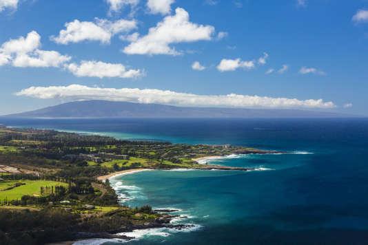 La côte de Kapalua sur l'île de Maui, dans l'Etat d'Hawaï.